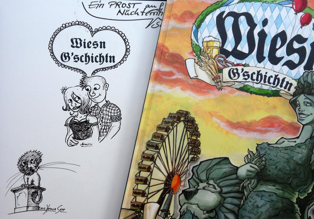 Wiesn-Album Titelblatt und Signatur