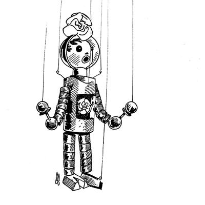Marionetten Astronaut 400px