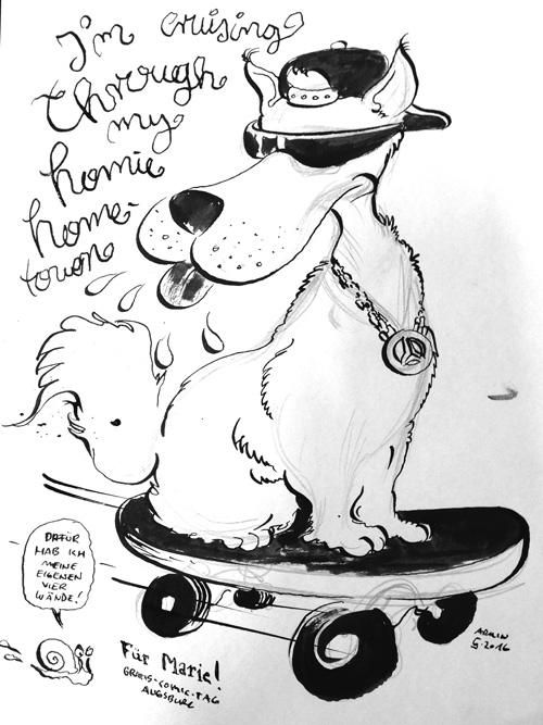 GCT 2016 Augsburg Hund auf Skateboard Armin 500px